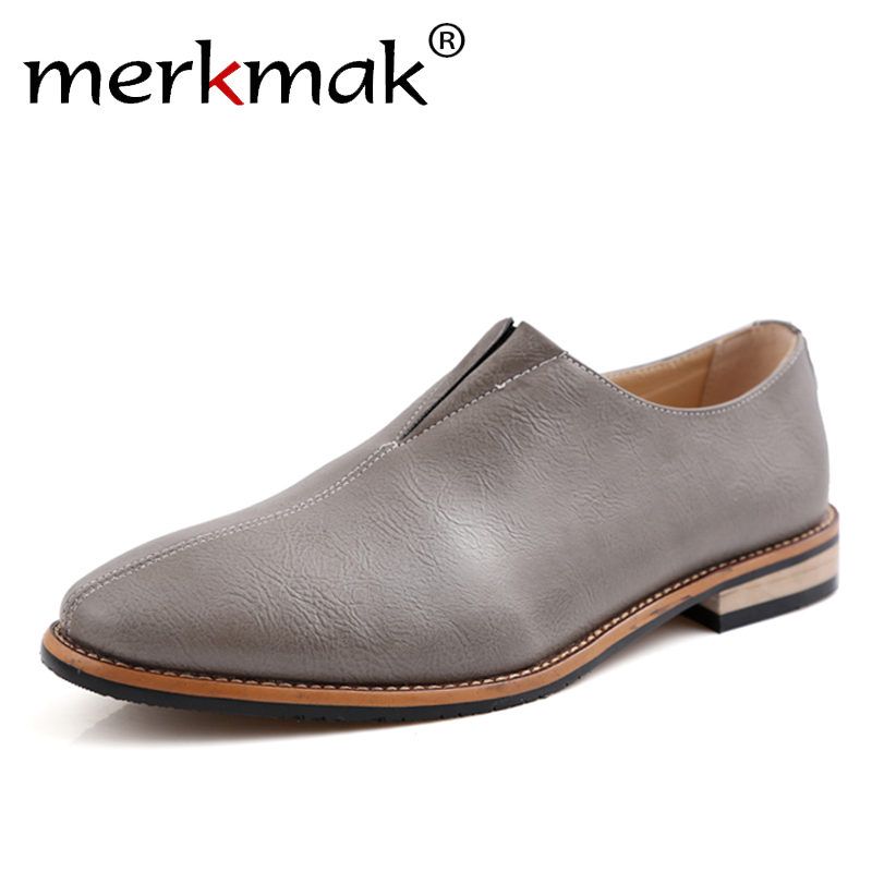 New 2018 Men Shoes Leather Top Brand Mens Oxfords Dress Shoes Spring Autumn Loafers Fashion Mens Flats Casual Male Man Shoes <br>