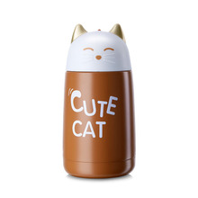 330ml New Thermos Cup Cartoon Moe Cat Thermo Mug Drinkware Kids Water Bottle Stainless Steel Vacuum Leak-proof Insulation Cup