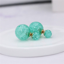 2017 hot new design fashion brand jewelry double Imitation pearls stud earrings for women Variety big beads Statement earings