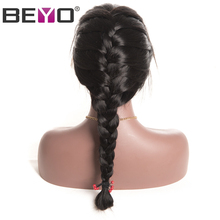 Beyo 360 Lace Frontal Wig 150% Density Pre Plucked Brazilian Body Wave Lace Wigs For Black Women Non Remy Human Hair Wigs(China)