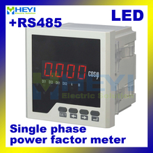 Single phase digital power factor meter COS power factor indicator COS meter LED HY-H with RS485(China)