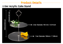 2 Tier Acrylic Round Cupcake Stand/Birthday Wedding Party   Dessert Stand/ Pastry Serving Platter/ Food Display Stand