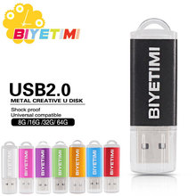 2016 BiYeTiMi Usb Flash Drive Real Capacity Beautiful Rainbown 8GB 16GB 32GB Memory Usb Stick 2.0 Pen Drive Pendrive For PC(China)