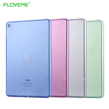 FLOVEME Ultra Thin Silicon Case For ipad 2 3 4 Mini 1 2 3 4 Cases Slim Transparent For ipad Pro Air 1 2 Case Crystal Clear Shell