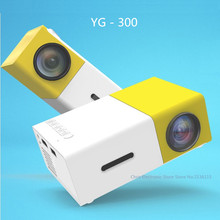 Mesuvida Genuine YG300 Projector YG 310 LED Portable 500LM 3.5mm Audio 320x240 Pixel YG-300 HDMI USB Mini Projector Media Player