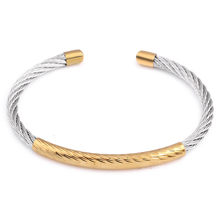 stainless steel cable mesh Cuff Bracelets chain bracelet bangles for women(China)