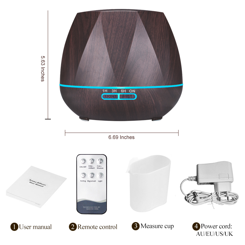 Air Humidifier Essential Oil Diffuser 500ML 13