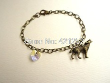 20pcs/lot Twilight Breaking Dawn: Bella's Wolf & Heart Bracelet Prop Replica Jewelry