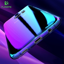 FLOVEME Blue Light Cover For Samsung S8 Case Galaxy S8 Plus S7 S6 Edge Aurora Phone Cases For Samsung S8 Galaxy A3 A5 2017 2016