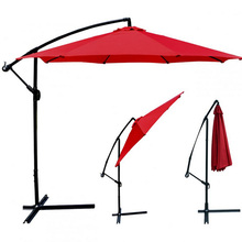 GIANTEX Garden Patio Umbrella Offset Hanging Umbrella Outdoor Market Umbrella OP2331