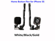 1PCS NEW for iPhone 5S Home Button Senor Flex Cable Ribbon Complete Replacement Part White Black Gold