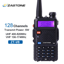 Original Zastone V8 same as baofeng uv5r Walkie Talkie Ham Two Way Radio Transceiver 128channels 5W VHF UHF Handheld uv5r Radio(China)