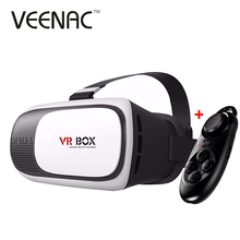 Google Cardboard VR BOX II 2.0 Version 3D Video Glasses for Iphone 5 5c 5s 6 6s Plus Samsung S6 S7 Edge With wireless gamepad(China)
