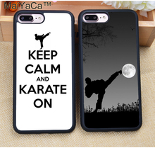 MaiYaCa Kung Fu Karate Taekwondo Martial Arts Soft Rubber Cell Phone Cases For iphone 8 7 Plus 6s 6 Plus 4S 5 5S 5C SE Capa Para(China)
