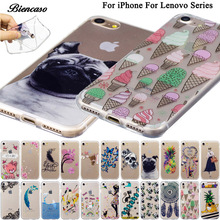 Soft TPU Case For Lenovo A536 A358T K3 A6000 K5 Plus A6020 A2010 Silicon Back Covers Shell Skin Shield Cases For iPhone 8 B99