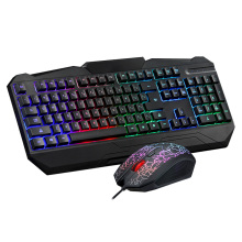 MOTOSPEED USB Wired Gaming Keyboard Esport Keyboards & Gamer Mouse Mice Combo Set Kit Colorful LED Backlit for PC Laptop Desktop
