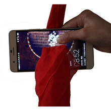 2017 New Magic Tricks Scarf Through Phone Close-up Tricks Magie Funny Silk Thru Phone Trick Toys for Magicians Gag Toys