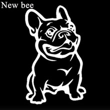 Newbee 11CM French Bulldog Car Styling Pit Dog Sticker Window Door Trunk Vinyl Motorcycle Decal For Honda Toyota Volkswagen Ford(China)