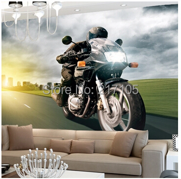 2015 Photo Wallpaper Papel De Parede Infantil Free Shipping Custom Large Murals The Living Room Tv Backdrop Wallpaper Motorcycle <br><br>Aliexpress