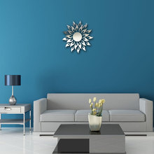 2016 new special offer acrylic 3d diy mirror wall stickers modern design living room watches home decoration
