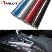 30x100cm 5D High Glossy Carbon Fiber Vinyl Wrap Film Auto Car Truck Interior DIY Decoration Sticker Car Styling Accessories(China)