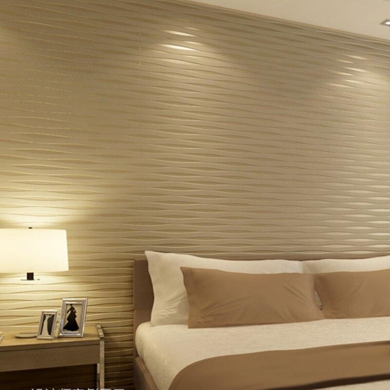 3D Stereo Embossed Non-woven Wallpaper Wallcovering Modern Vertical Horizontal Striped Living Room Bedroom TV Backdrop Wallpaper<br>