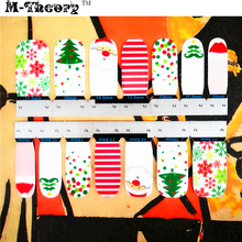 M-theory Adhesive Nails Wraps Stickers White Christmas 3D Nails Arts Decals Polish Gel varnish Manicure Decorations Make Tools