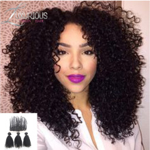 Hot Malaysian kinky Curl lace frontal closure with bundles 100% human Virgin hair kinky Curly with lace frontal closure 4 pics