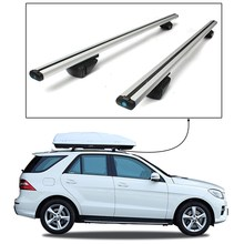 2pcs 135cm Car Roof Rack Cross Bar Universal for Auto SUV Offroad with Anti-theft Lock Load Cargo Luggage Carrier Load 220Lb
