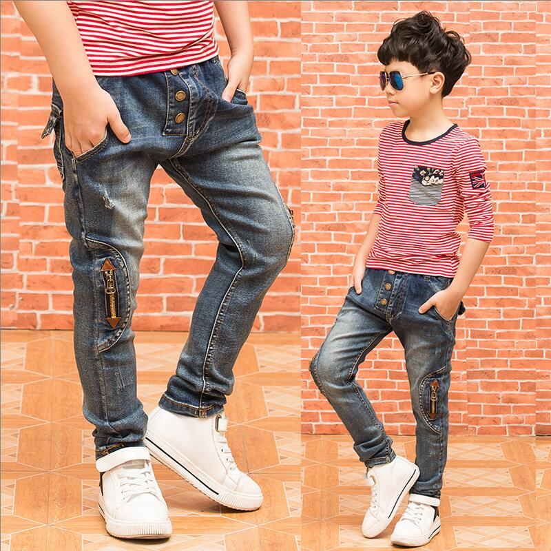 Retail 2017 New Boys Jeans Children Clothing Spring Autumn Kids Pants Trousers Boys Casual Denim Pants 3-14Y Free
