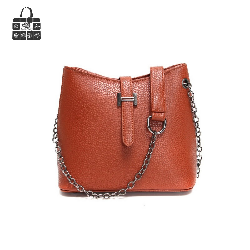 Fashion Europe vintage Litchi grain contracted small bucket bag, PU leather women bag handbags single shoulder bags Handle Bags<br><br>Aliexpress