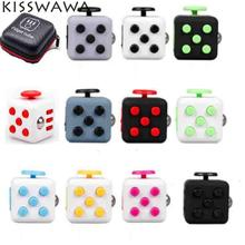KISSWAWA Hot 11 Style Fidget Cube Toys Original Quality Puzzles & Magic Cubes Anti Stress Anxiety Reliever