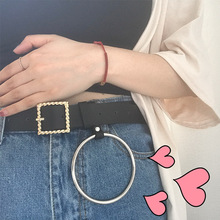 Buy Fashion Womens Solid Black PU Belt 2018 Korean Ulzzang Harajuku Retro Simple All-match Buckle Ring Belets Women High for $8.08 in AliExpress store