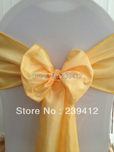 100pcs Canary Yellow Chameleon Wedding Chair Sash,Chair Sash for Weddings Events &Banquet &Party Decoration(China)