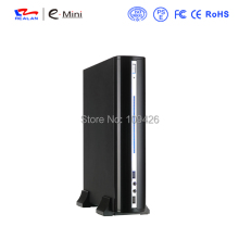 Realan Silver and Black Horizontal Micro ATX Computer Case 2007 C, Vertical Mini ITX Case Micro ATX Desktop PC Case(China)