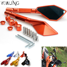 Buy Universal Moto Motorcycle Scooters Racer Rearview Back Side View Mirror yamaha R1 R3 R6 FZ6 tmax530 kawasaki Z750R Z1000 KTM for $28.80 in AliExpress store