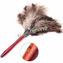 40cm Anti Static Natural Fall Ostrich Fur Feather Duster Brush Wood Handle Household Cleaning Car Fan Furniture Dust Cleaner