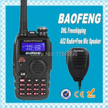DHL freeshipping+Baofeng a52 Portable Radio Walky Talky for CB radio vhf uhf dual band midland  radio station baofeng uv+Speaker