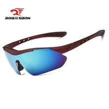 ROBESBON Polarized Cycling Eyewear Colorful Outdoor Sports Bike Sunglasses TR90 Goggles Running Windproof Eyewear Accessory(China)
