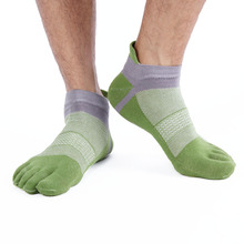 6 Pairs MIRISI New Product Enhanced Cuff Breathable Mesh Green Ankle Man;s Five Toe Socks(China)