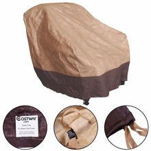 Waterproof Outdoor High Back Patio Rattan Chair Seat Furniture Cover Protection HW51764