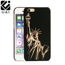 2016 Popular Retro Wood Phone Case for iPhone 7 7plus Natural Carving Design Wood With Durable Plastic Edges Case Fast delivery(China)