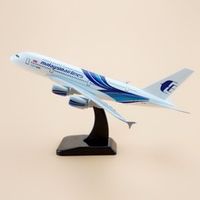 Alloy Metal Air Malaysia Airlines A380 Airplane Model Malaysia Airbus 380 Airways Plane Model Stand Aircraft Gifts 18cm(China)