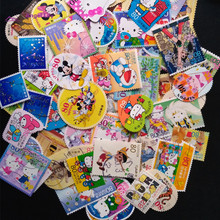 50 PCS / Lot All Different Cartoon Comic Postage Stamps With Post Mark Different Sharp Stamps For Collection Gift(China)