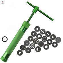 Metal Clay Extruders High Quality Green pottery clay tools DIY Sculpture Gun Clay Sugar Paste Extruder Cake Sculpture Gun Tool