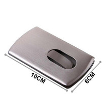 Warmfolk Big Capacity Business Name Card Holder Metal Credit Card Holder Unisex Visit Card Case Metal Wallet Steel Box NH-02