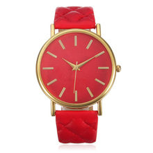7 Colors Fashion Watches Women Casual Geneva Roman Leather Band Analog Quartz Wrist Watch Women's Clock Relogio Feminino #N