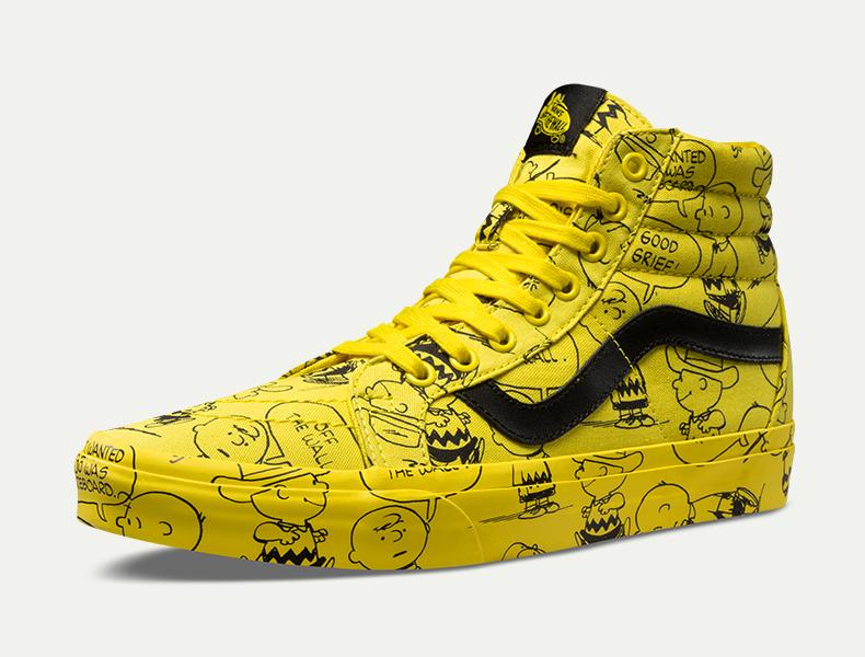 vans peanuts yellow