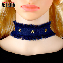 2017 new arrival popular accessories Chokers Necklaces Cute/Romantic Link Chain personality Star cowboy Necklaces for women