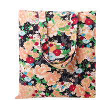 TANGIMP 2017 Peony Pattern Eco Canvas Handbags Woman Reusable Shoulder Beach Bags Summer Hot bolsa compra Female Shopping Tote
